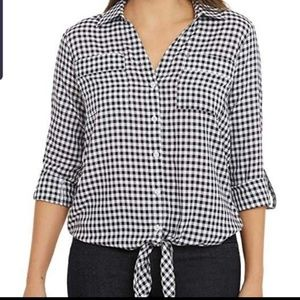 New Jones New York Checkered size Large Top